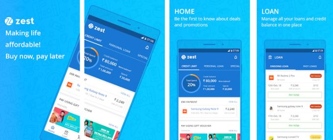 Zest Money Play Store Screenshots