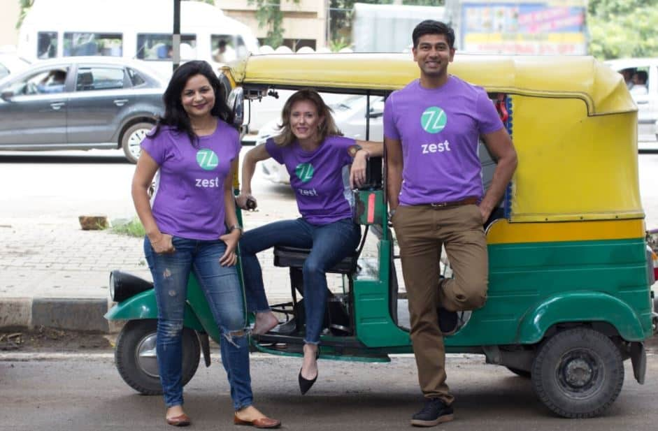 ZestMoney Cofounders - Rickshaw in background